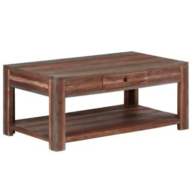 acheter vidaxl table basse bois massif vintage 88 x 50 x 38 cm pas cher. Black Bedroom Furniture Sets. Home Design Ideas