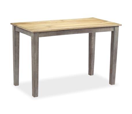 vidaXL Stół do jadalni z litego drewna, vintage, 118 x 60 x 76 cm[3/12]