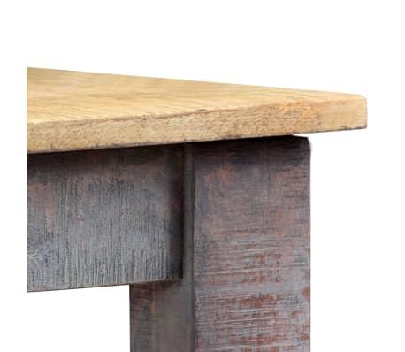 vidaXL Stół do jadalni z litego drewna, vintage, 118 x 60 x 76 cm[4/12]