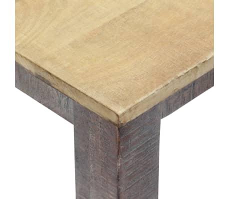 vidaXL Stół do jadalni z litego drewna, vintage, 118 x 60 x 76 cm[5/12]
