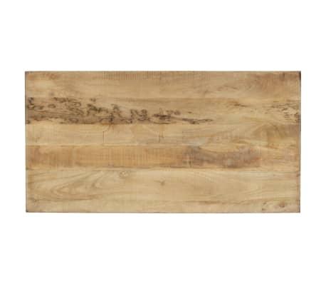 vidaXL Stół do jadalni z litego drewna, vintage, 118 x 60 x 76 cm[6/12]