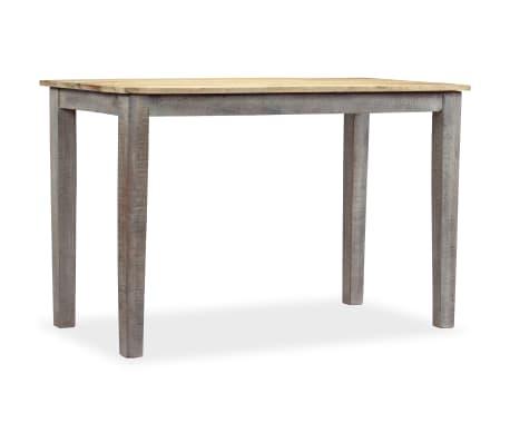 vidaXL Stół do jadalni z litego drewna, vintage, 118 x 60 x 76 cm[10/12]