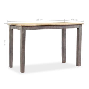 vidaXL Stół do jadalni z litego drewna, vintage, 118 x 60 x 76 cm[12/12]