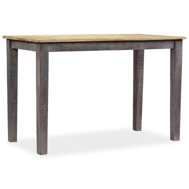 vidaXL Stół do jadalni z litego drewna, vintage, 118 x 60 x 76 cm[8/12]
