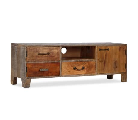 vidaXL Tv-meubel vintage 118x30x40 cm massief hout[1/13]