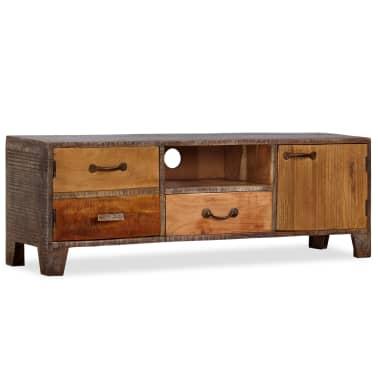 vidaXL Tv-meubel vintage 118x30x40 cm massief hout[9/13]