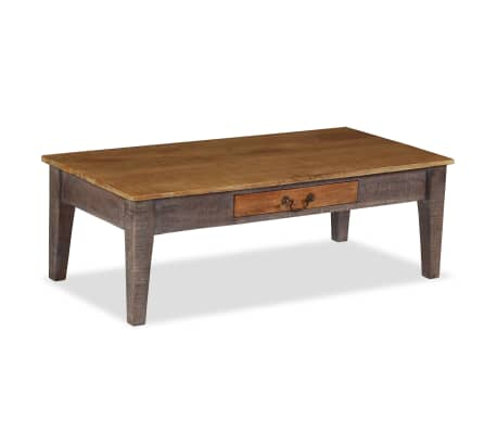 vidaXL Kavos staliukas, medienos masyvas, vintažinis st., 118x60x40cm[13/13]
