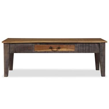 vidaXL Kavos staliukas, medienos masyvas, vintažinis st., 118x60x40cm[2/13]
