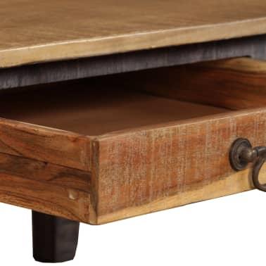 vidaXL Kavos staliukas, medienos masyvas, vintažinis st., 118x60x40cm[4/13]