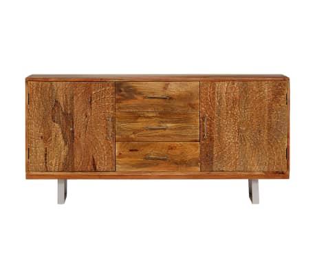 vidaXL Buffet Bois massif d'acacia avec portes sculptées 158x40x75 cm[2/15]
