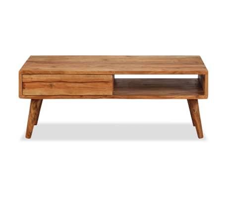 vidaXL Kavos staliukas, mediena, su išdrožinėtu stalč., 100x50x40 cm[2/13]