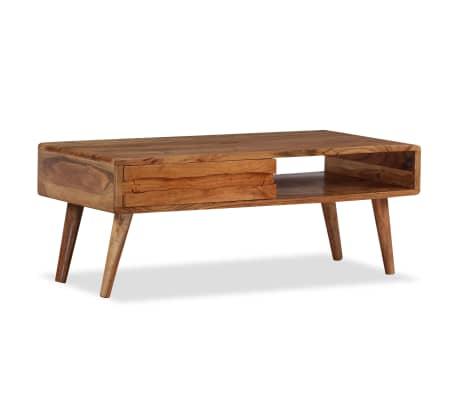 vidaXL Kavos staliukas, mediena, su išdrožinėtu stalč., 100x50x40 cm[13/13]