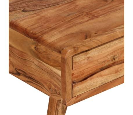 vidaXL Kavos staliukas, mediena, su išdrožinėtu stalč., 100x50x40 cm[4/13]