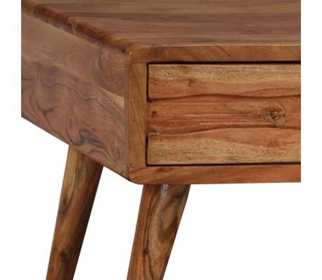 vidaXL Kavos staliukas, mediena, su išdrožinėtu stalč., 100x50x40 cm[6/13]