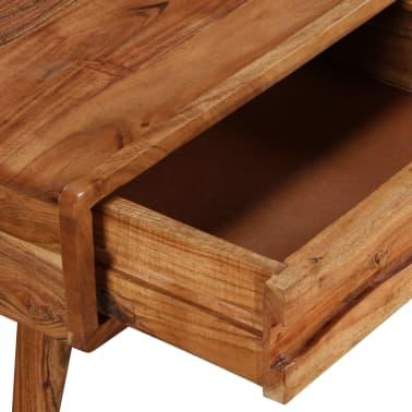 vidaXL Kavos staliukas, mediena, su išdrožinėtu stalč., 100x50x40 cm[5/13]