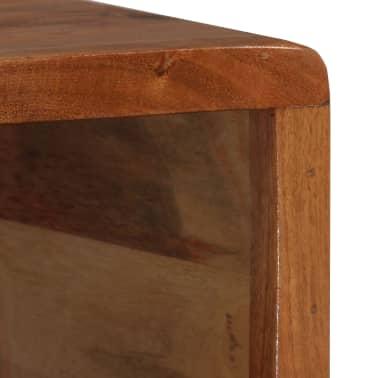 vidaXL Kavos staliukas, mediena, su išdrožinėtu stalč., 100x50x40 cm[7/13]