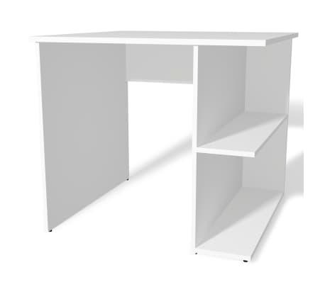 acheter vidaxl bureau pour ordinateur panneau agglom r 82 x 60 x 76 cm blanc pas cher. Black Bedroom Furniture Sets. Home Design Ideas
