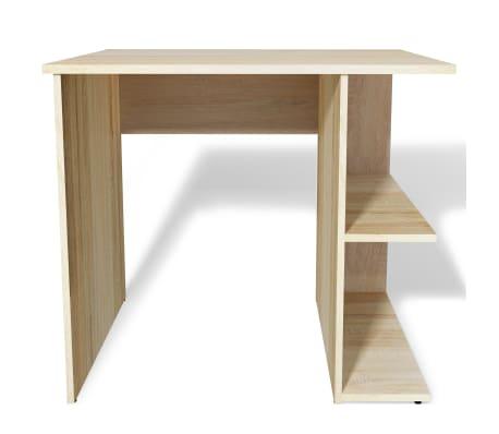 Acheter vidaxl bureau pour ordinateur agglom r 82 x 60 x for Bureau en bois pour ordinateur