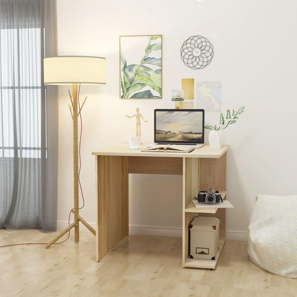 vidaXL PC stůl, dřevotříska, dub, 82x60x76 cm