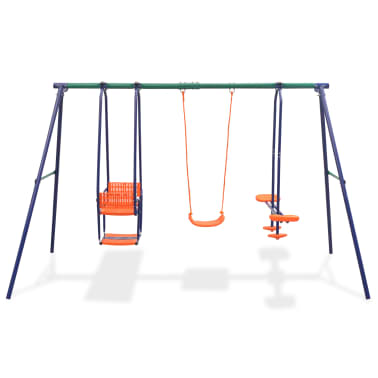 vidaXL Gungställning med 5 sitsar orange[2/12]
