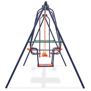 vidaXL Gungställning med 5 sitsar orange[3/12]