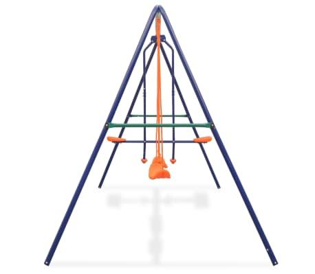 vidaXL Gungställning med 4 sitsar orange[3/10]