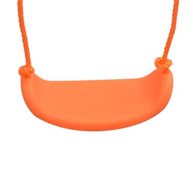 vidaXL Swing Set with Slide and 3 Seats Orange[4/11]