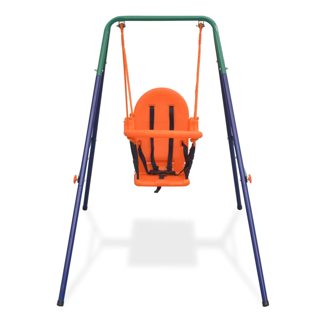 99991360 Kleinkinder-Schaukelset mit Sicherheitsgeschirr Orange