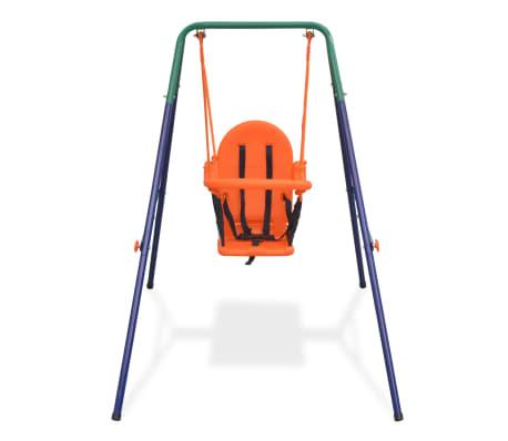 vidaXL Balançoire pour enfants avec harnais de sécurité Orange[2/7]