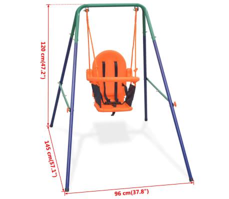 vidaXL Balançoire pour enfants avec harnais de sécurité Orange[7/7]