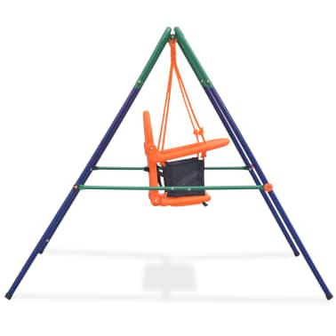 vidaXL Balançoire pour enfants avec harnais de sécurité Orange[3/7]