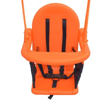 vidaXL Balançoire pour enfants avec harnais de sécurité Orange[4/7]