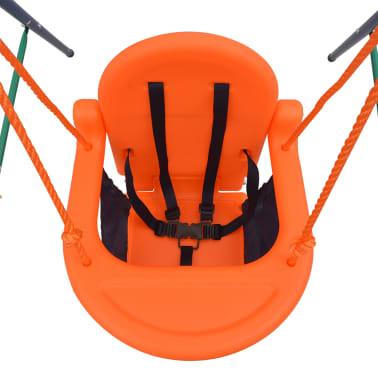 vidaXL Balançoire pour enfants avec harnais de sécurité Orange[5/7]