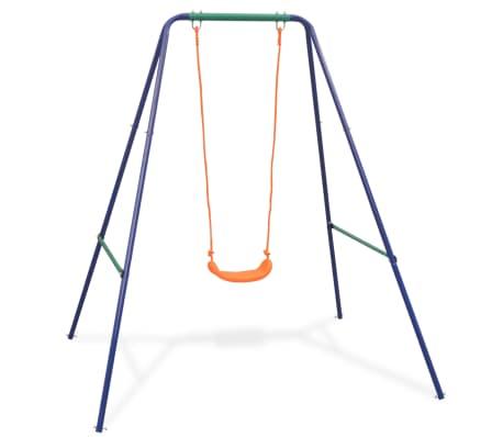vidaXL 2-in-1 Single Swing and Toddler Swing Orange[2/16]