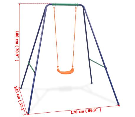 vidaXL 2-in-1 Single Swing and Toddler Swing Orange[15/16]