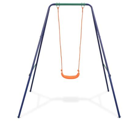 vidaXL 2-in-1 Single Swing and Toddler Swing Orange[3/16]