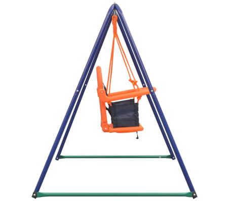 vidaXL 2-in-1 Single Swing and Toddler Swing Orange[7/16]