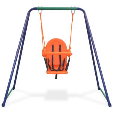 vidaXL 2-in-1 Single Swing and Toddler Swing Orange[6/16]