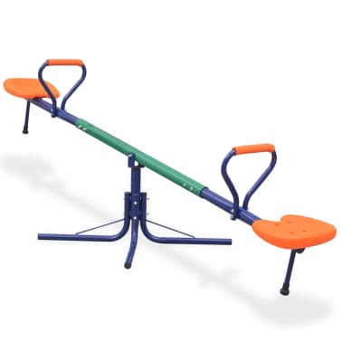 vidaXL 360-Degree Rotating Seesaw Orange[1/8]