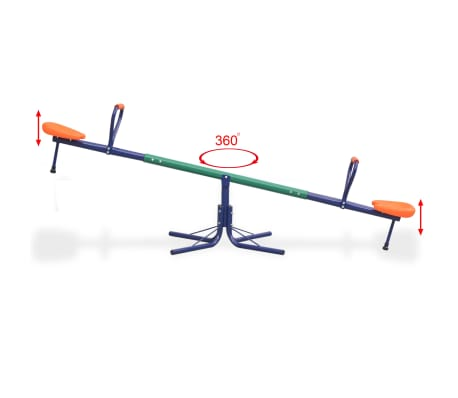 vidaXL 360-Degree Rotating Seesaw Orange[7/8]