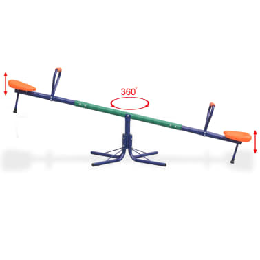 vidaXL 360-graders roterende vippe orange[7/8]