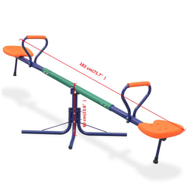 vidaXL 360-Degree Rotating Seesaw Orange[8/8]