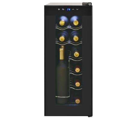 vidaXL Barski hladilnik za vino 35 L za 12 steklenic LCD zaslon[4/6]