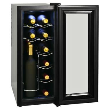 vidaXL Barski hladilnik za vino 35 L za 12 steklenic LCD zaslon[3/6]