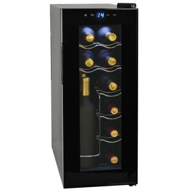 vidaXL Barski hladilnik za vino 35 L za 12 steklenic LCD zaslon[1/6]