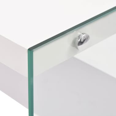 Vidaxl konsolentisch glas mdf hochglanz wei g nstig kaufen - Glas konsolentisch ...