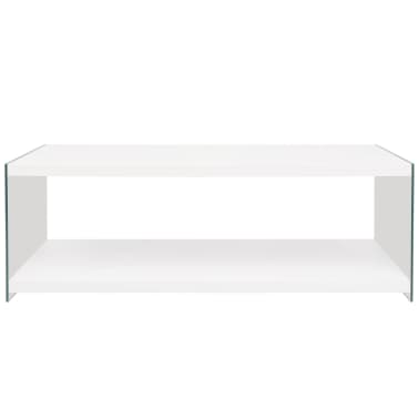 Witte Salon Tafel Met Glas.Vidaxl Salontafel Met Schap Glas Mdf Hoogglans Wit Vidaxl Nl