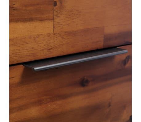 "vidaXL Chest of Drawers Solid Acacia Wood 17.7""x12.5""x45.2""[8/9]"