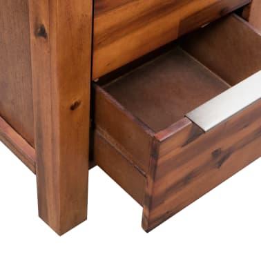 "vidaXL Chest of Drawers Solid Acacia Wood 17.7""x12.5""x45.2""[6/9]"