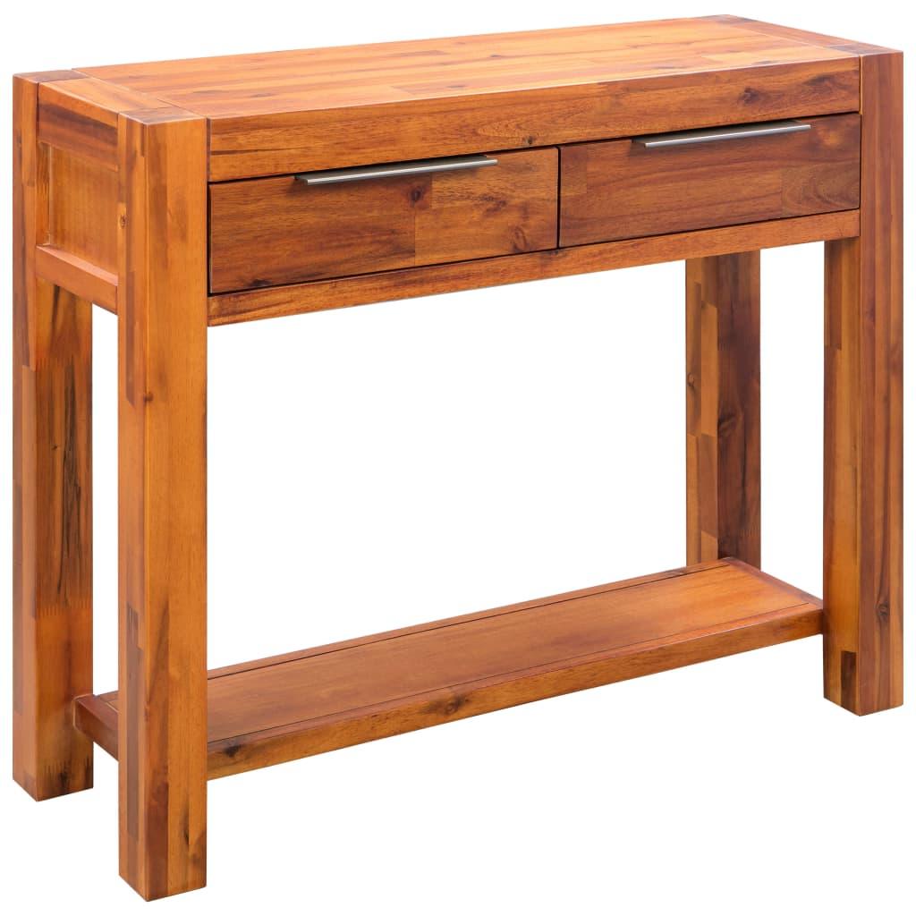vidaXL Stolik typu konsola z litego drewna akacjowego, 86 x 30 x 75 cm
